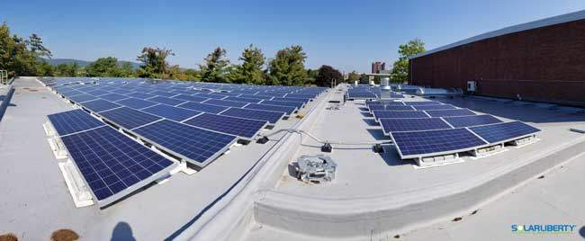 Fisheye view of New Paltz solar