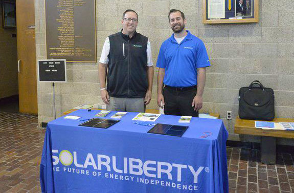 Solar Liberty booth