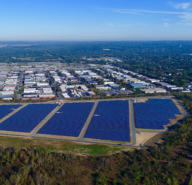 Aerial of solar power