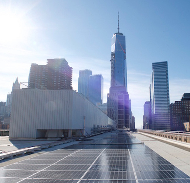 NYC rooftop solar system