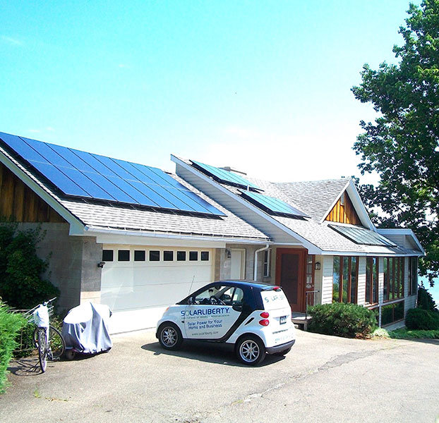 Solar Liberty vehicle with home